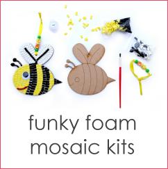 Funky foam mosaic kits